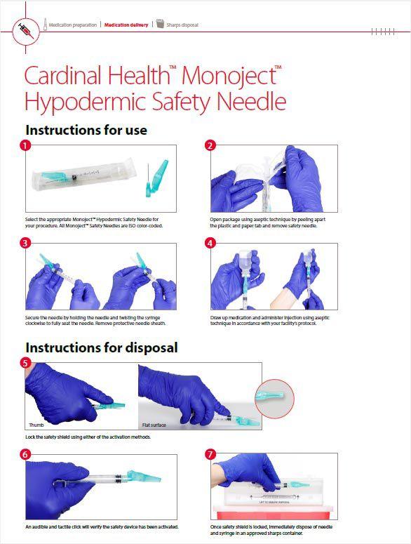 Monoject™ Hypodermic Safety Needle IFU.