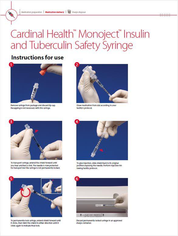 Cardinal Health™ Monoject™ Insulin and Tuberculin Safety Syringe IFU.