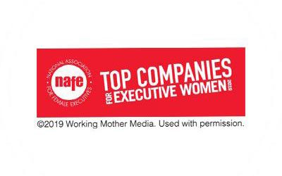 Top Companies for Executive Women logo.
