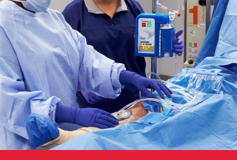 Nurses using NPWT.
