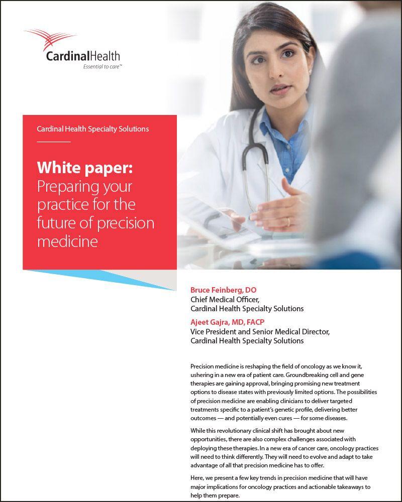Precision medicine whitepaper cover page.