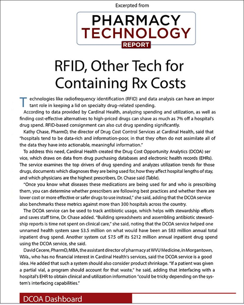 RFID, Other Tech for Containing Rx Costs