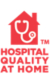 Logo of home with stethoscope reading Hospital Quality at Home.