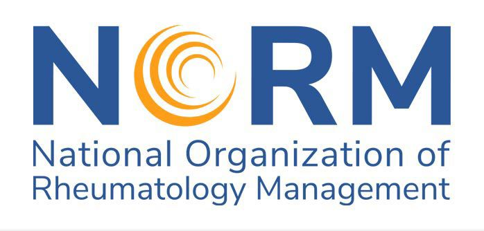 National Organization of Rheumatology Managers (NORM) logo.