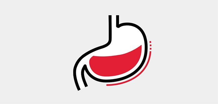 Icon illustration of a stomach.