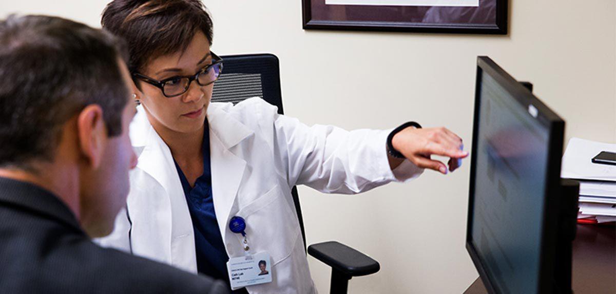 Bar code scanner tool scanning a bottle of medicine.