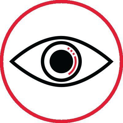 Icon illustration of an eye.