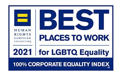 Best Places to Work for LGBTQ Community logo.