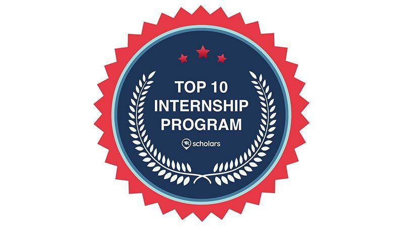Top 10 Internship Program award logo.