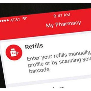 Pharmacy Marketing Advantage app on a smartphone.